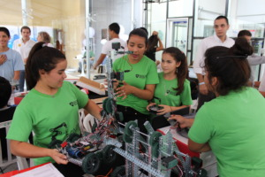 Students enjoy the new robotics academy