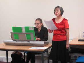 Members of the Carers Choir lead carols