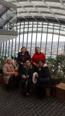 Carers Time Bank Members at the Sky Garden