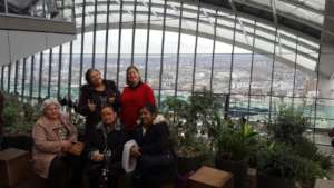 It's thumbs up for the Sky Garden , and the view!