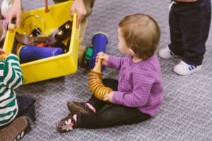 Toddler Enjoying Music Clas