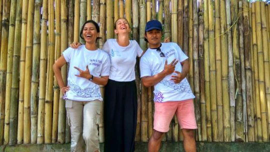 Our fabulous team: Herni, Alice and Dode