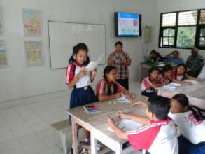 Lesson 7 at SD2 Lembongan