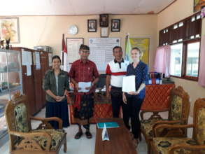 Signing the MOU with the principal of SDN 3