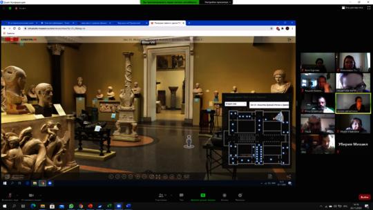 Virtual Excursion around Pushkin Fine Arts Museum