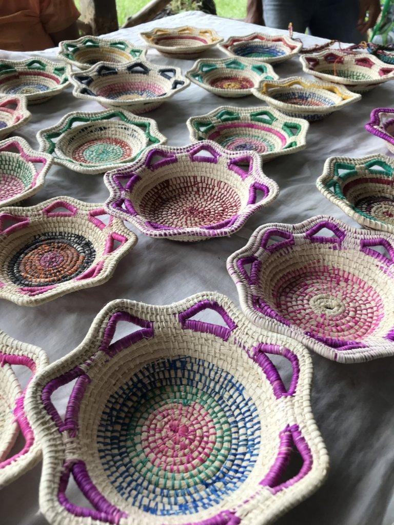 Maijuna baskets for sale to visitors