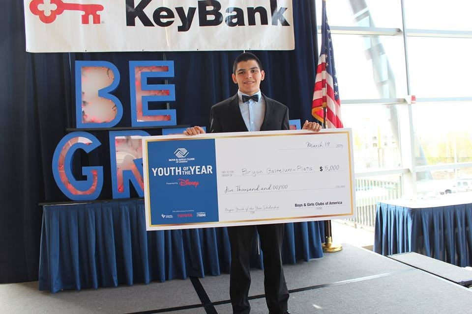 Brian with his $5000 check.