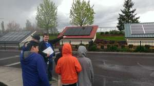 Torch Club learning about solar power.