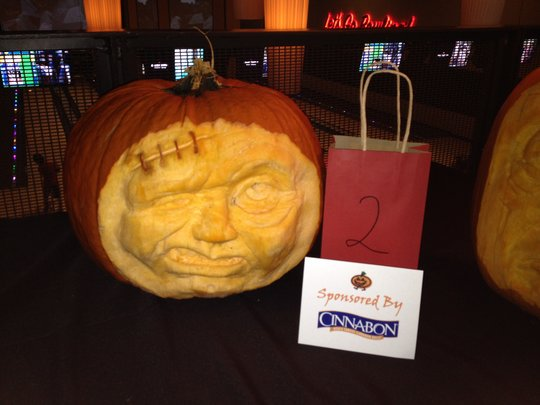 Pumpkins & Pins professionally carved pumpkin