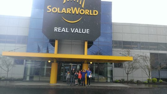 The Torch Club visiting Solar World.