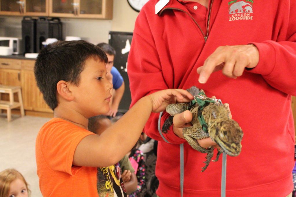 Up close and personal with the reptiles!