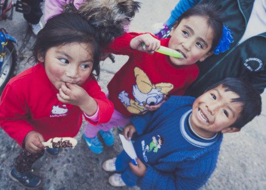 Children from La Oroya