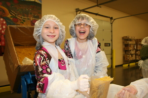 Kids volunteering at OFB
