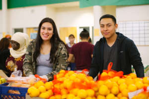 Teens volunteering at Harvest Share