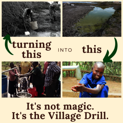 Clean water is possible with the Village Drill