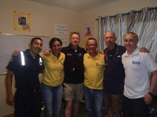 A medical team visit