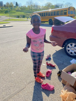 Rita gets a new pair of cleats!