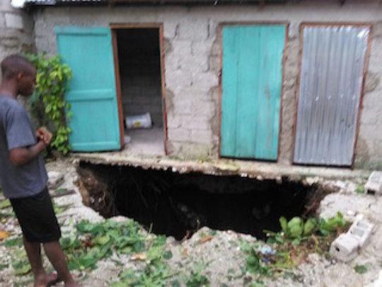 Home destruction from Hurricane Matthew
