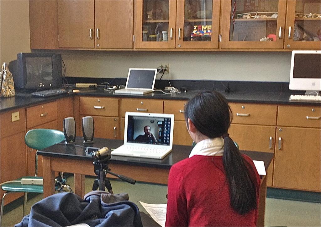 Skype interview with an IESC volunteer