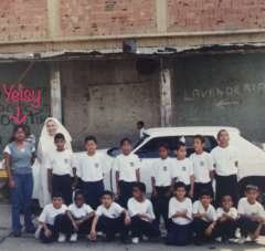 Yeisy, students and Sister Maria Luisa (2003)