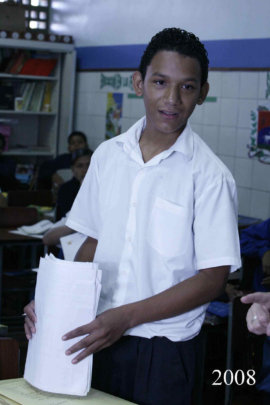 Hanthonyz as a student in the classroom