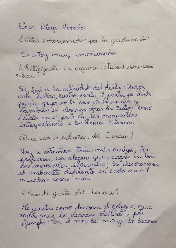 Page 2: Handwritten experience by Karen