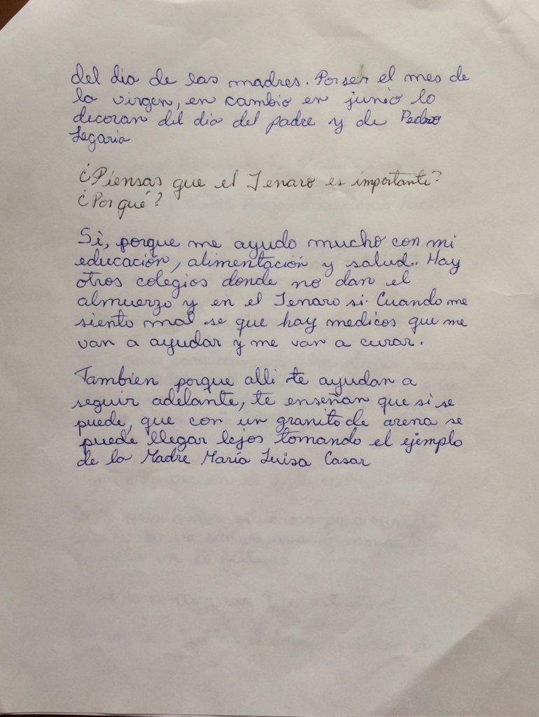 Page 3: Handwritten experience by Karen
