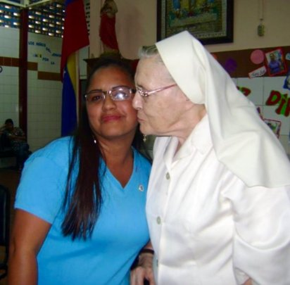 Yeisy and Sister Maria Luisa at the school (2015)
