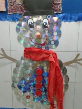 Hanthonyz's snowman made of waste materials