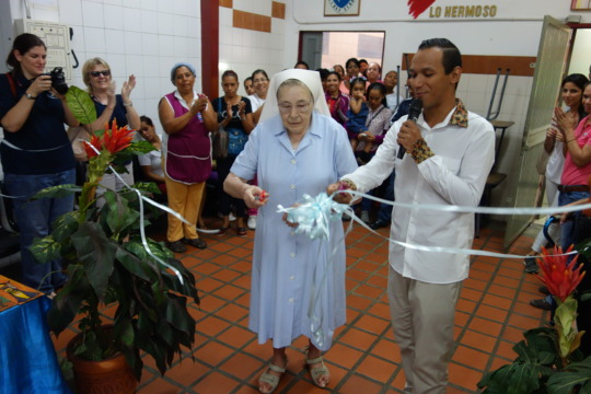 Hanthonyz host at the school with founder Ma Luisa