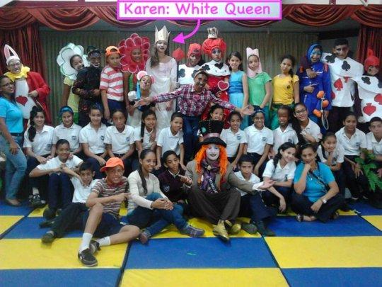 Karen: The White Queen- play: Alice in Wonderland
