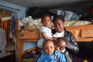 On a family visit in Altos de Cazuca