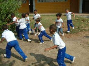 A little futbol in our school in El pozon