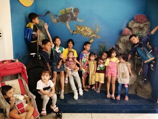 Tamar Children at the Aquarium