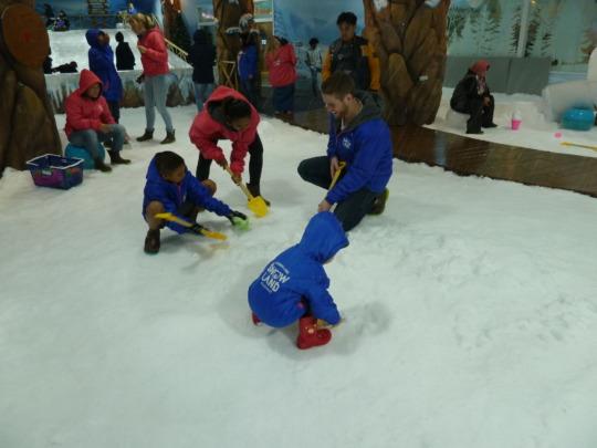 Kids playing at Snow Land in Pattaya