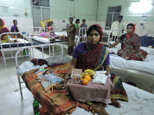destitute women from rural areas getting nutrition