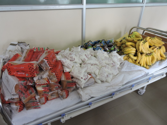 nutritious diet donation to poor patients hospital