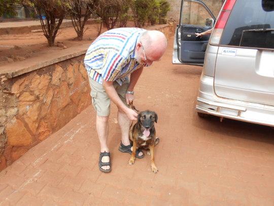 Christian adopts a USPCA Haven dog!