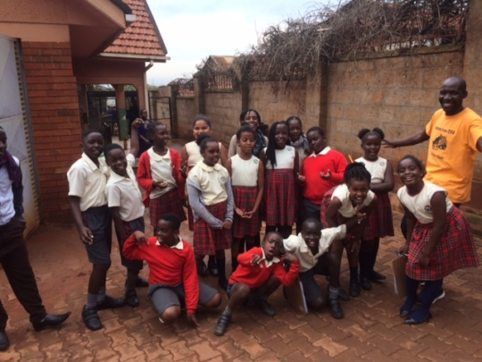 Studnets from Clarke School visit The Haven