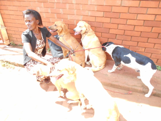 Bisikwa had to surrender her 6 dogs to the USPCA