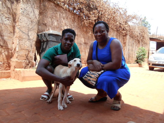 Ruth adopts a USPCA Haven dog!