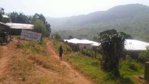 General View of Muteff, remote, rural Community