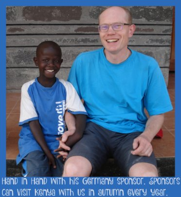 A Sponsor from Germany visiting his sponsored son