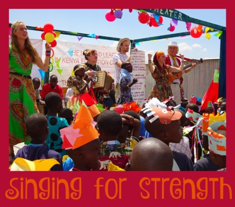 Singing for Strength with visiting sponsors