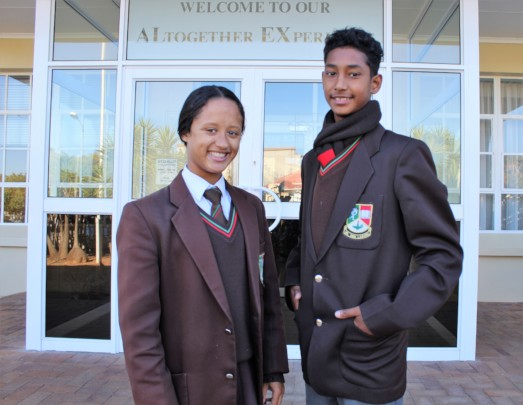 Kiara and Sachin, two of our budding sport stars.