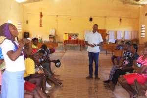 Training for families in the sponsorship program.