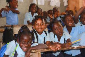 Third graders at the Wesleyen School in Nan Mango.