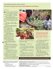 School Gardens help parents feed their children. (PDF)