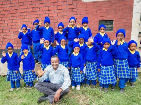 2017 Ikirwa Scholars with Gasper Mbise