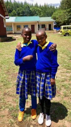 Two of our bright sponsored students